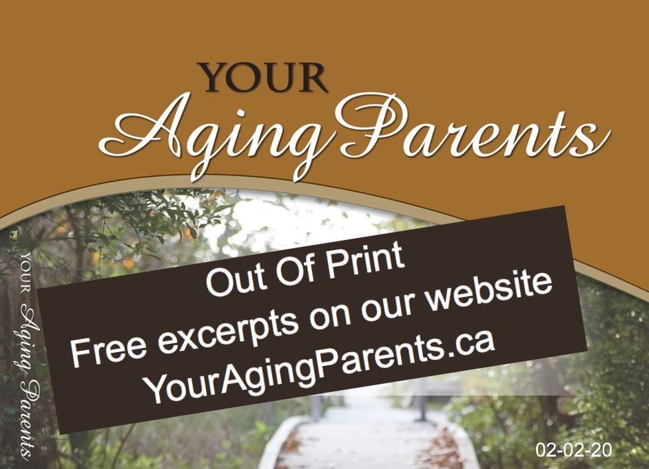 Cover of book Your Aging Parents with note Out of Print free excerpts on website